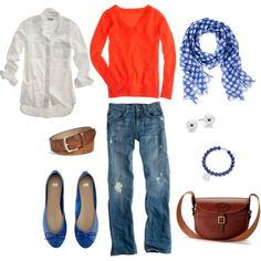Blue and Orange, created by bluehydrangea on Polyvore ... Go broncos!