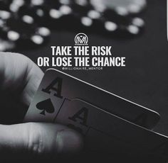 Moving On Quotes : One chance in life realise u that u are a best by taking risks.
