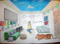 One-Point Perspective Room by xValkyrieVampire on deviantART