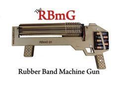 Rubber Band machine Gun by XYZbot — Kickstarter. A fully automatic, rapid fire, rubber band gun.