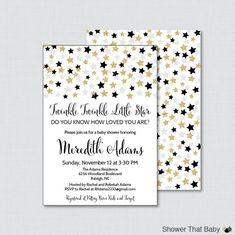 Twinkle Twinkle Little Star Baby Shower by ShowerThatBaby on Etsy