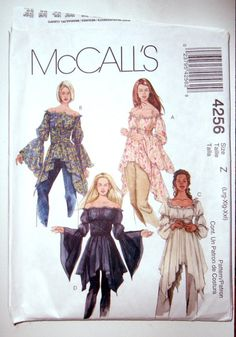 Your place to buy and sell all things handmade McCalls 4256 UNCUT Misses Peasant Blouse with Handkerchief Hem and Angel Sleeve Variations Sewing Pattern Size LRG-XXLRG ( ) Bust Mccalls Patterns, Vintage Sewing Patterns, Clothing Patterns, Fashion Patterns, Skirt Patterns, Vogue Patterns, Coat Patterns, Blouse Patterns, Sewing Clothes