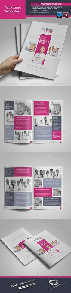 Dentist Brochure Template  #GraphicRiver        Dentist Brochure Template  Fully layered