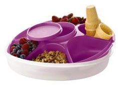 Tupperware | Serving Center(r) Set. Use the lid for ice under the serving center. Great color and it's on sale! www.my.tupperware.com/kellyvose