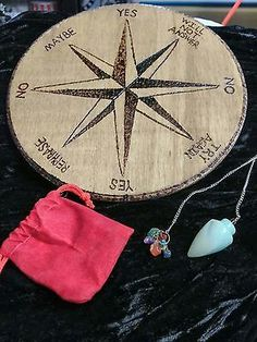 Handmade Pendulum Board Wiccan, Witchcraft, Pendulum Board, Ouija, Paranormal, Magic, Holiday Decor, Handmade, Crafts