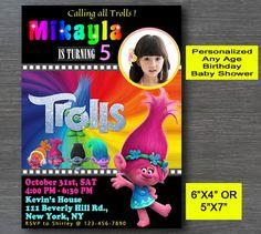 Trolls Invitation Trolls Birthday Invite Trolls by TLemonCo