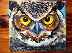 Great Horned Owl from Nina Levy's Daily Napkins for her sons