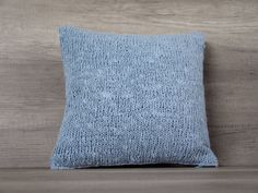 Check out this item in my Etsy shop https://www.etsy.com/listing/271870038/light-blue-throw-euro-sham-knitted