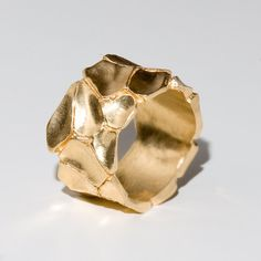 Parched earth no2 14k gold ring unisex ring wedding by doronmerav, $660.00