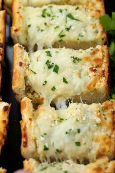 Easy Cheesy Garlic Bread is one of our favorite pasta sides! Frozen Garlic Bread, Homemade Garlic Bread, Garlic Cheese Bread, Cheesy Garlic Bread, Best Cheesy Bread Recipe, Mozzarella Bread Recipe, Recipes With Mozzarella Cheese, Canned Butter, Pasta Sides