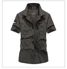 Cheap camisa hombre, Buy Quality hemden heren directly from China male shirt Suppliers: 2017 New Mens Cotton Short sleeve military shirts male shirt chemise homme manche hemden heren camisa hombre air force Brand Army Shirts, Uniform Shirts, Men Shirts, Shirt Men, Loose Shirts, Printed Shirts, Casual Shirts For Men, Casual Shorts, Cheap Dress Shirts