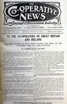Article in Co-operative News August 1914