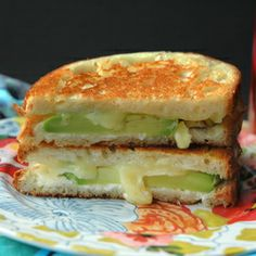 crispy, golden grilled cheese with white cheddar cheese and avocado