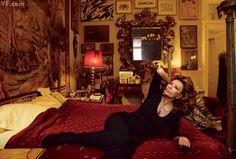 by Annie Leibovitz  BEDTIME STORIES Sophia Loren at her home in Geneva, Switzerland. Vanity Fair, March 2012