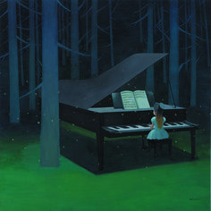 Chen Zhuo, Live in Another Place, Oil on Canvas,150x150cm, 2012, Gallery Yang