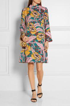 Marni | Printed crepe dress | NET-A-PORTER.COM