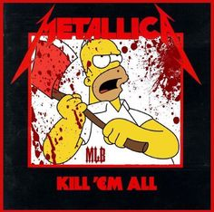 Metallica - Kill Em All Heavy Metal Rock, Heavy Metal Bands, Music Artwork, Metal Artwork, Metallica Art, Metallica Funny, Hard Rock, Iron Maiden Posters, Metal Meme