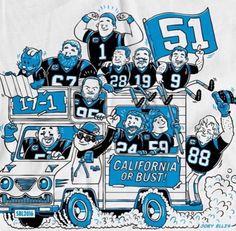 The Carolina Panthers are NFC Champions. #17-1 #SB50 #keeppounding