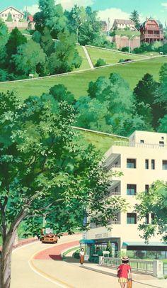 Studio Ghibli Art, Studio Ghibli Movies, Aesthetic Backgrounds, Aesthetic Wallpapers, Film Animation Japonais, Studio Ghibli Background, Japon Illustration, Film D'animation, Anime Scenery Wallpaper