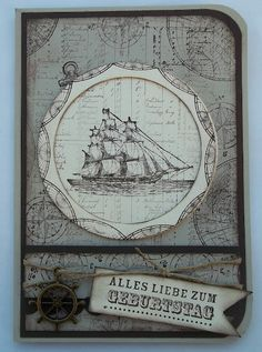 The open Sea, maskulin card Stampin UP