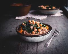 Kabocha Curry with Spinach, Chickpeas, & Farro by reclaiming provincial