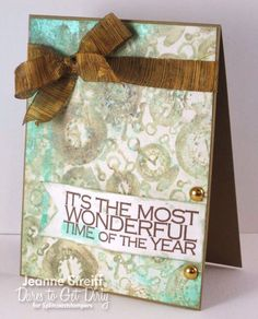 DTGD13 Most Wonderful by Jeanne S - Cards and Paper Crafts at Splitcoaststampers