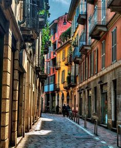 Take a stroll through the colorful streets of Milan, Italy Places Around The World, Oh The Places You'll Go, Places To Travel, Places To Visit, Around The Worlds, Travel Destinations, Milan Travel, Sierra Nevada, Future Travel