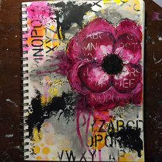 By Betsy Walcheski. Art journal. Paint and Donna Downey stencils.