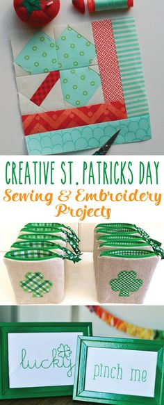 Happy Friday all! It's Bev from Flamingo Toes here with some Cute St Patrick's Day Sewing and Embroidery Projects. I haven't done a lot of St. Patrick's Day projects but I&#…