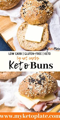 These keto buns are perfect for sandwiches, the perfect low carb bread. Made with almond flour and psyllium husk, you can enjoy bread on keto. This recipe doesn't involve lots of kneading the dough, and it's ready in about 20 minutes! Almond Bread, Almond Flour Recipes, Banana Bread Recipes, Coconut Flour, Honey Bread, Sugar Bread, Olive Bread, Almond Milk, Keto Friendly Desserts