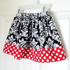 Minnie Damask Skirt 3m to size 5/6 buy 2 get 1 by Amievoltaire, $23.50