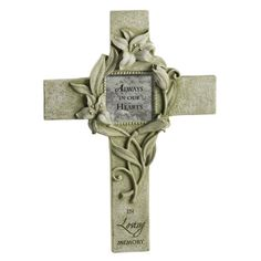 """Grasslands Road Loving Thoughts """"In Loving Memory"""" Personalized Cross Photo Frame with Metal Stand by Grasslands Road, http://www.amazon.com/dp/B0055MVDKO/ref=cm_sw_r_pi_dp_xmhQpb1Z56KAY"""