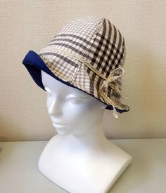 紫外線も気になり始める春。半端に余っているハギレを利用して帽子を作ってみました^^☆ Spring has come with UV ray. Make a hat utilizing remainder cut cloths.  #hat #handmade #sewing #手づくり #ジャガーミシン #余り布