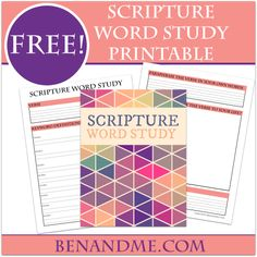 How to do a Scripture Word study with your kids (and a free printable study tool).