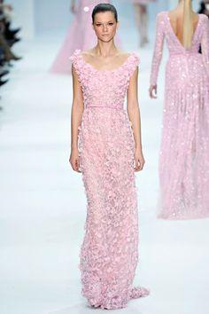 fashion, runway, model, kasia struss, elie saab