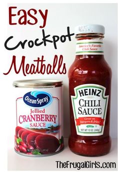 Easy Crockpot Meatballs Recipe!  {Sweet 鈥榥 tangy... and SO easy! A tasty appetizer or delicious twist to your meatball sandwiches!} #crockpot #recipes