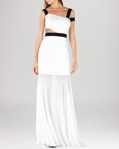 BCBGMAXAZRIA Gown - Roxana Off-the-Shoulder Cutout | Bloomingdale's