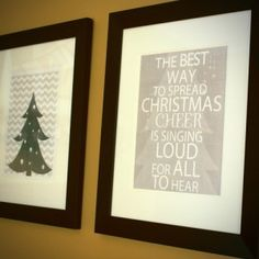 3 Free 11x14 wall art for Christams. Love ELF have to do this next year
