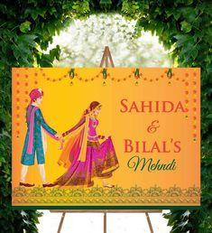 Pakistani Wedding Mehndi Decor Shaadi Banner Shaadi Decor Wedding Banner Wedding Decor Mehndi Banners Indian Wedding Dulhan Mehndi
