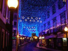 Christmas lights in Funchal, Madeira Island, Portugal