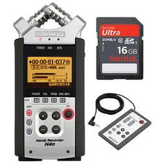 Zoom   H4n Handy Recorder Kit with 16GB SD Card and Remote Control
