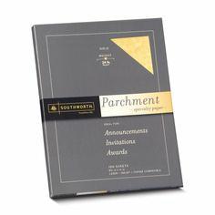 Amazon.com: Southworth Colors + Textures Fine Parchment Paper, 24 lb, 8.5 x 11 Inches, Gold, 100 Sheets (P994CK): Office Products