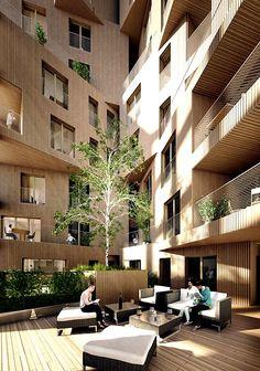 Многофункциональный комплекс в Лондоне. Внутренний дворик