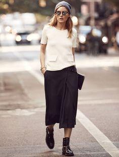 Oui à la fusion entre style chic et dégaine streetwear ! (Olivia Palermo)