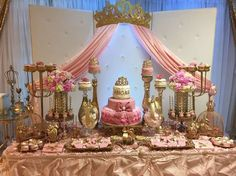 Lenni U's Baby Shower / Princess Baby Shower - Photo Gallery at Catch My Party Shower Party, Baby Shower Parties, Shower Gifts, Baby Shower Themes, Baby Shower Decorations, Baby Shower Princess, Baby Princess, Princess Party, Twin Baby Girls