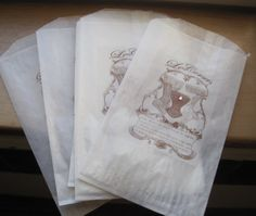 french market le corsets glassine sacks set of 7
