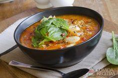 Receita de Sopa de tomate e batata em receitas de sopas e caldos, veja essa e outras receitas aqui!