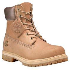 715379b8dd23 Women s Timberland Premium Waterproof Boots Natural Nubuck Gold Collar