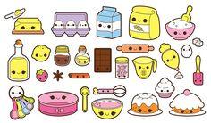 Kawaii Baking Clipart Kawaii Cooking Clipart Kawaii - Kawaii Baking Clipart Kawaii Cooking Clipart Kawaii Groceries Clip Art Kawaii Food Clipart Kawai More Information Find This Pin And More On Products By Etsy Kawaii Doodles, Cute Kawaii Drawings, Cute Doodles, Cooking Clipart, Food Clipart, 365 Kawaii, Kawaii Cooking, Stickers Kawaii, Casa Anime