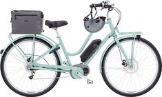 Dress Your Bike   Townie Commute Go! 8i in Mineral Blue